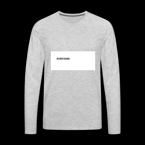 Subscribe iphone case - Men's Premium Long Sleeve T-Shirt