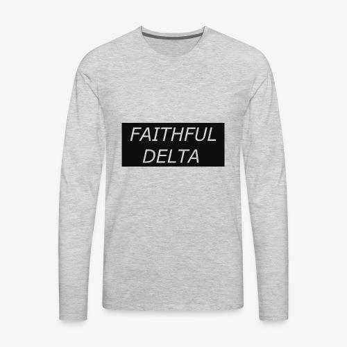 Faithful - Men's Premium Long Sleeve T-Shirt