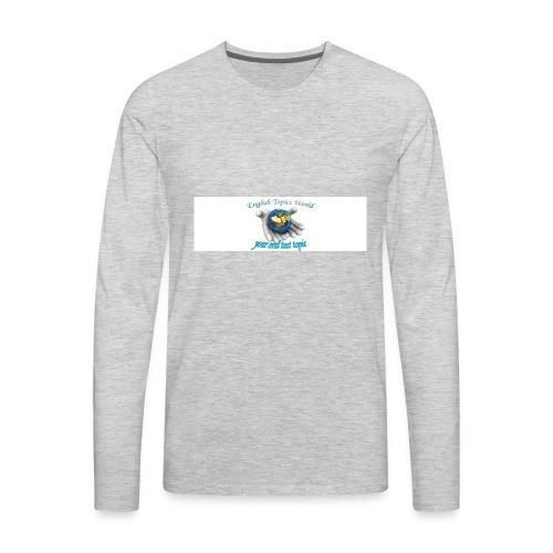 English Topics World - Men's Premium Long Sleeve T-Shirt