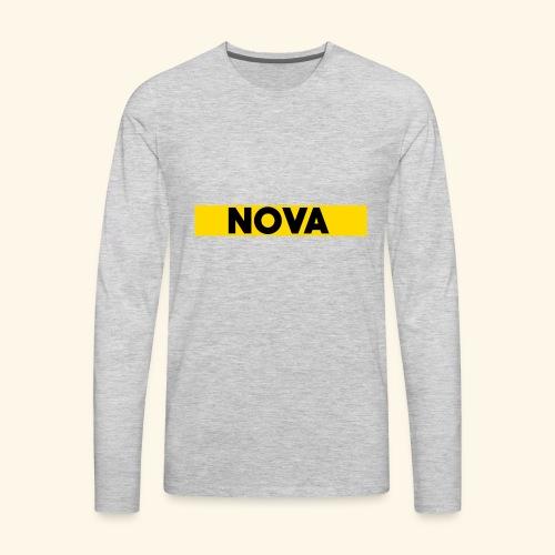Nova Box Logo - Men's Premium Long Sleeve T-Shirt