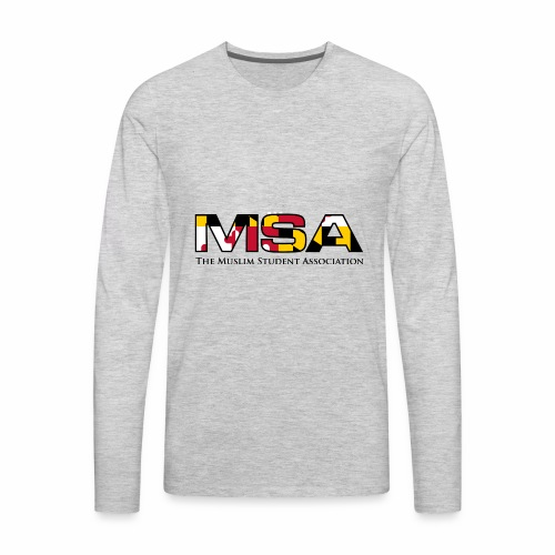 Maryland Flag MSA Logo - Men's Premium Long Sleeve T-Shirt