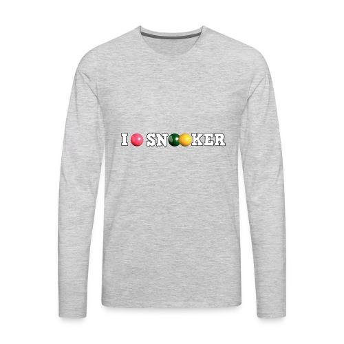 I love snooker - Men's Premium Long Sleeve T-Shirt