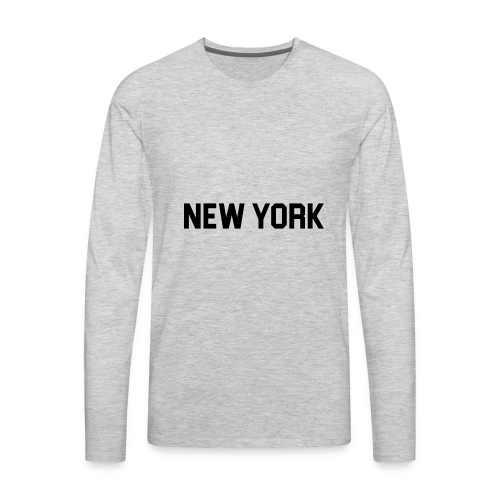 New York Yankee - Black - Men's Premium Long Sleeve T-Shirt