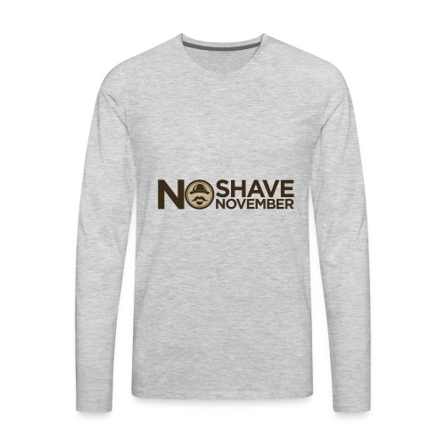 No shave November - Men's Premium Long Sleeve T-Shirt