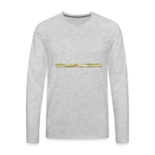TROLLIEUNICORN gold text limited edition - Men's Premium Long Sleeve T-Shirt