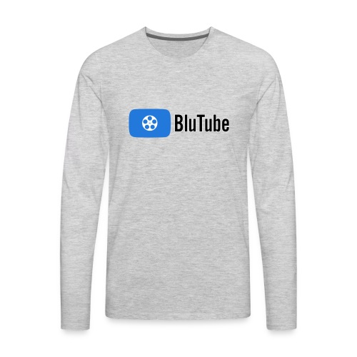 Blutube Logo - Men's Premium Long Sleeve T-Shirt