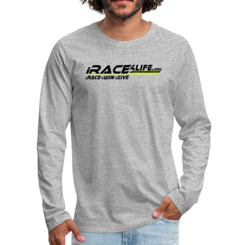iRace4Life.org Logo with iRace-iWin-iGive! - Men's Premium Long Sleeve T-Shirt