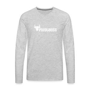 PivotBoss White Logo - Men's Premium Long Sleeve T-Shirt