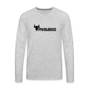 PivotBoss Black Logo - Men's Premium Long Sleeve T-Shirt
