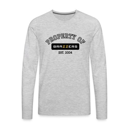 Property of Brazzers logo - Men's Premium Long Sleeve T-Shirt