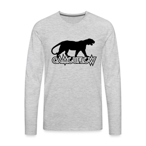 Camouflow Panther Logo - Men's Premium Long Sleeve T-Shirt