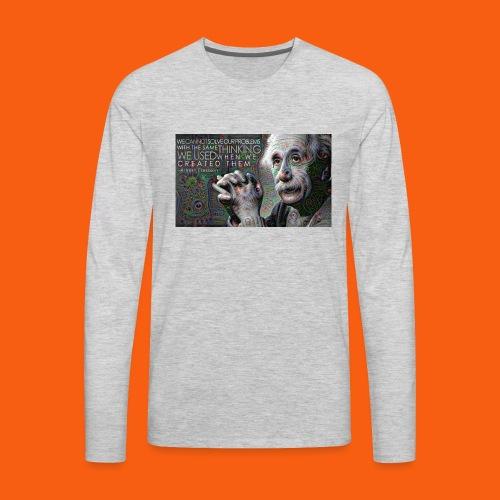 ES1 Einstein Quote - Men's Premium Long Sleeve T-Shirt