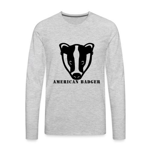American Badger - Men's Premium Long Sleeve T-Shirt