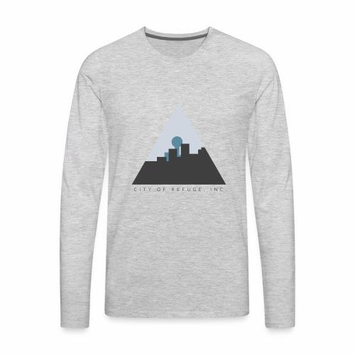 City of Refuge, Inc. Logo - Men's Premium Long Sleeve T-Shirt