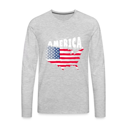 i love my graet america - Men's Premium Long Sleeve T-Shirt