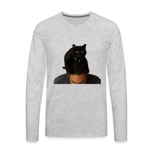 cat hat 2 cutout big - Men's Premium Long Sleeve T-Shirt
