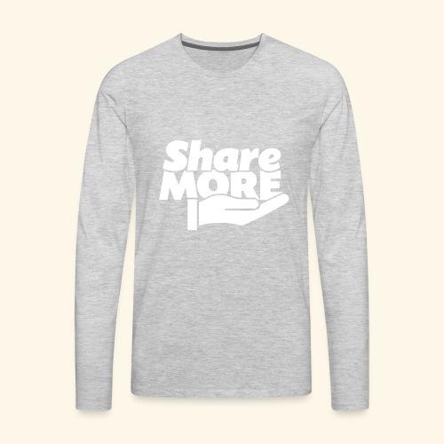 share more retro white - Men's Premium Long Sleeve T-Shirt