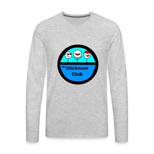 Stickman Club Logo - Men's Premium Long Sleeve T-Shirt