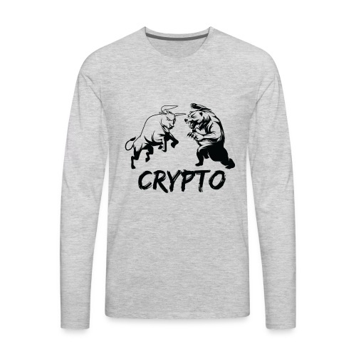 CryptoBattle Black - Men's Premium Long Sleeve T-Shirt