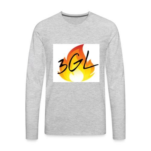 Hot logo full whiteu - Men's Premium Long Sleeve T-Shirt