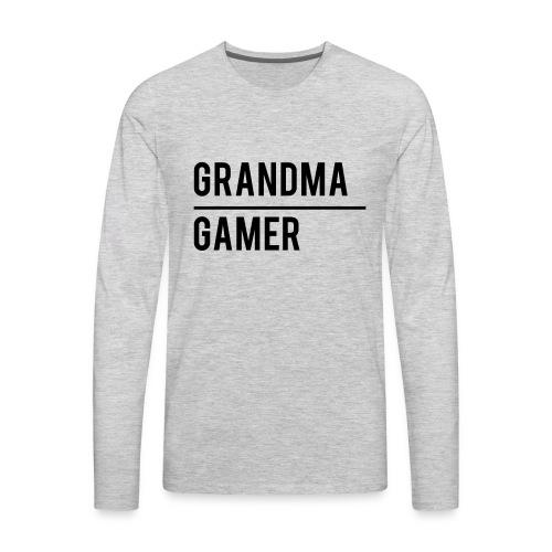GrandmaGamer_Shirt - Men's Premium Long Sleeve T-Shirt