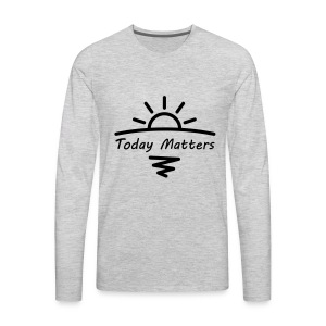 Today Matters Logo - Black - Men's Premium Long Sleeve T-Shirt