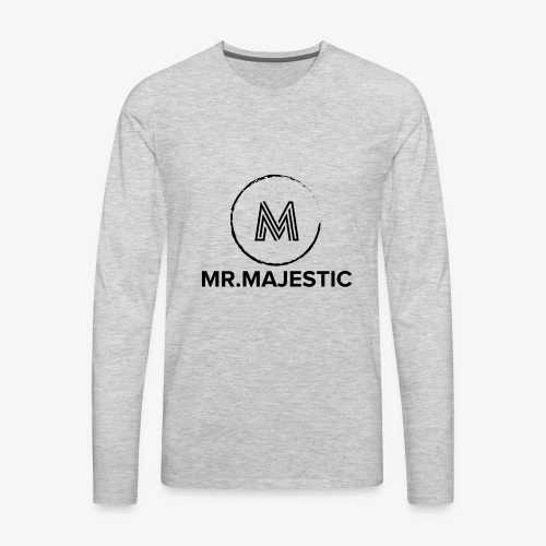 Majestic logo - Men's Premium Long Sleeve T-Shirt