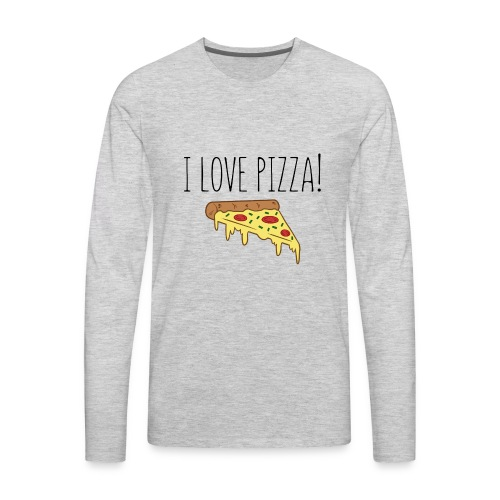 I Love Pizza - Men's Premium Long Sleeve T-Shirt
