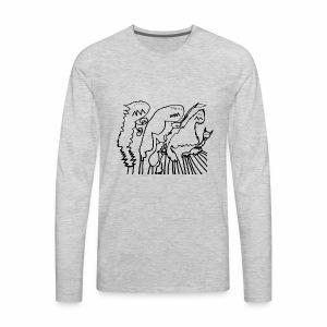 Jackie's monsters black - Men's Premium Long Sleeve T-Shirt