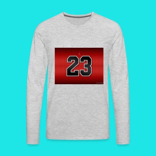 Jordan_Bulls_Jersey - Men's Premium Long Sleeve T-Shirt