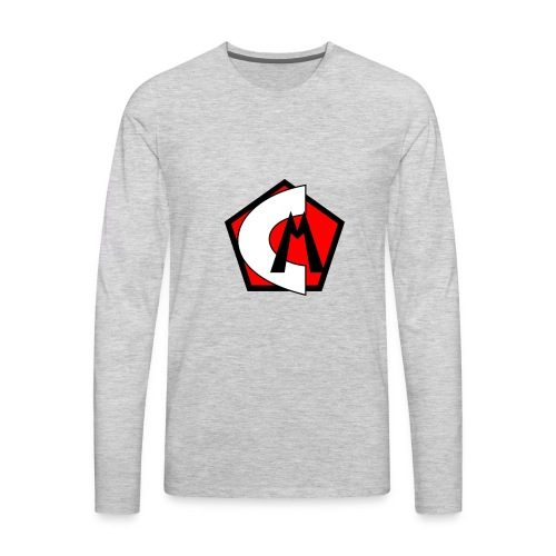Captain Marvelous Logo - Men's Premium Long Sleeve T-Shirt