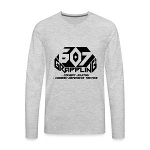 607 Grappling Black Logo - Men's Premium Long Sleeve T-Shirt