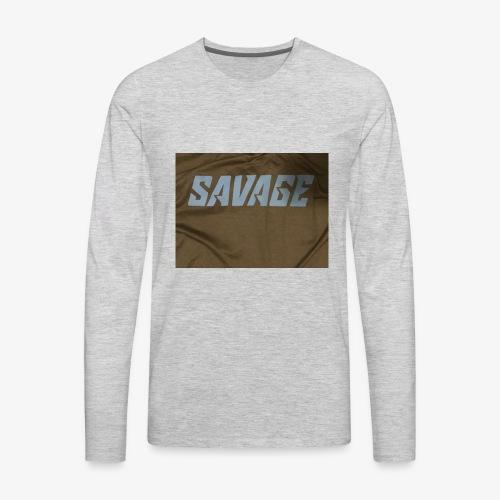 Black and blue savage merch - Men's Premium Long Sleeve T-Shirt
