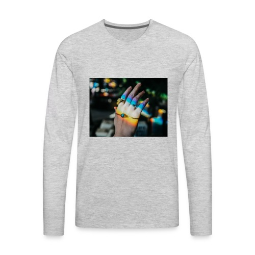 COLOR MY WORLD WITH MY HEART IN YOUR HAND X - Men's Premium Long Sleeve T-Shirt
