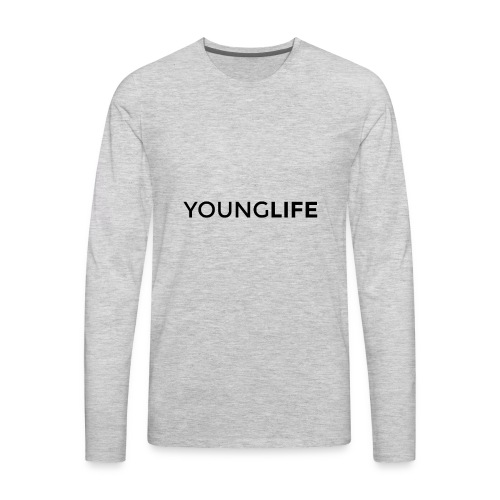 Young Life logo (text)(black) - Men's Premium Long Sleeve T-Shirt