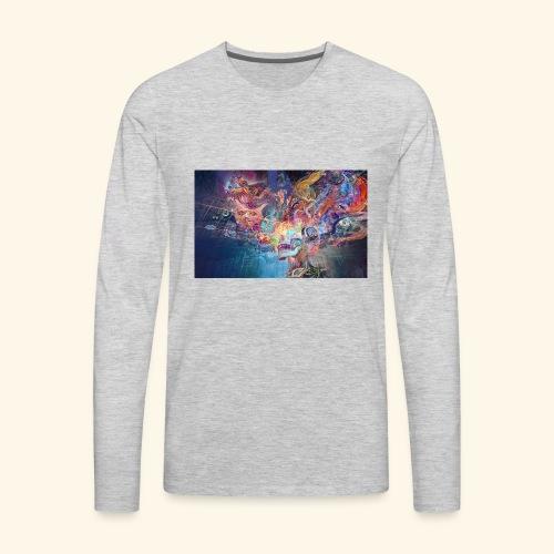 mental explosion - Men's Premium Long Sleeve T-Shirt