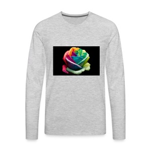 Colorful Rose Wallpapers 1 - Men's Premium Long Sleeve T-Shirt
