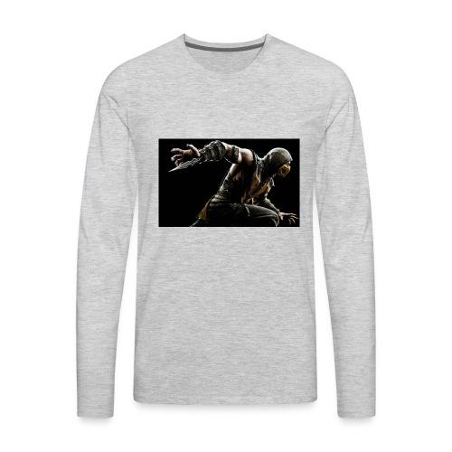 mortal kombat x scorpion wide - Men's Premium Long Sleeve T-Shirt