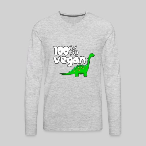 DINO VEGAN - Men's Premium Long Sleeve T-Shirt
