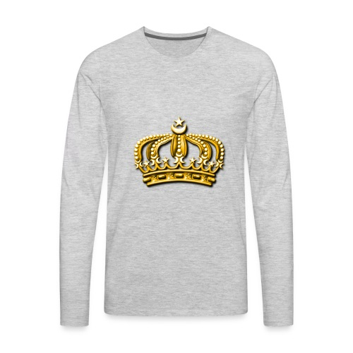 Gold crown - Men's Premium Long Sleeve T-Shirt