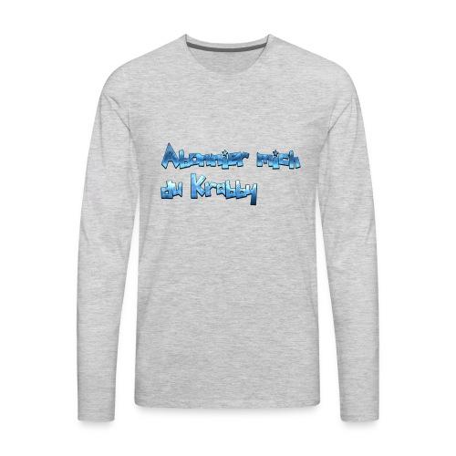 Itz_co11mme Abonnier mich du K**** - Men's Premium Long Sleeve T-Shirt