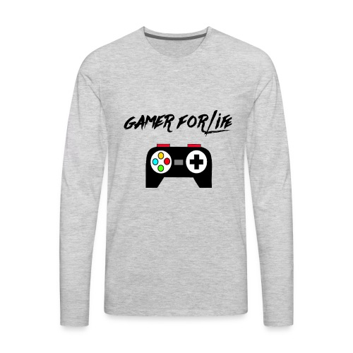 gamer for life1 - Men's Premium Long Sleeve T-Shirt