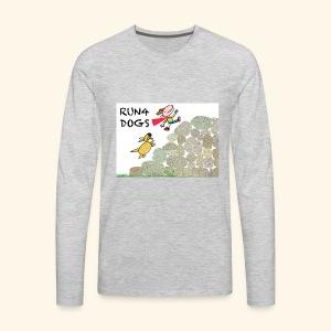 Dog chasing kid - Men's Premium Long Sleeve T-Shirt