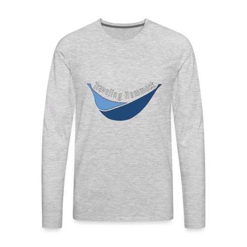 Traveling Hammock Logo without the background - Men's Premium Long Sleeve T-Shirt