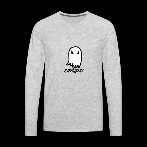 SayGhost Logo - Men's Premium Long Sleeve T-Shirt