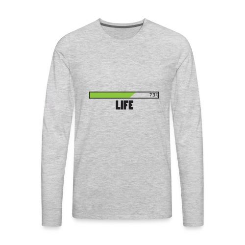 life T-shirt design by Jefranul - Men's Premium Long Sleeve T-Shirt