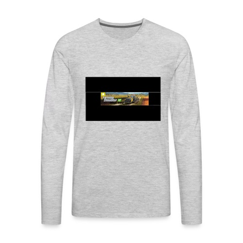 farming logo for youtube - Men's Premium Long Sleeve T-Shirt