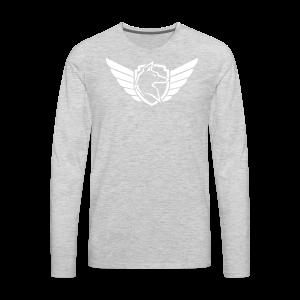 White Chest Logo - Men's Premium Long Sleeve T-Shirt