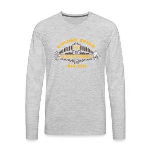 Golden Spike Color UP Logo - Men's Premium Long Sleeve T-Shirt