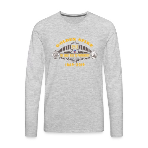 Golden Spike Color UP Logo - Men's Premium Long Sleeve T-Shirt